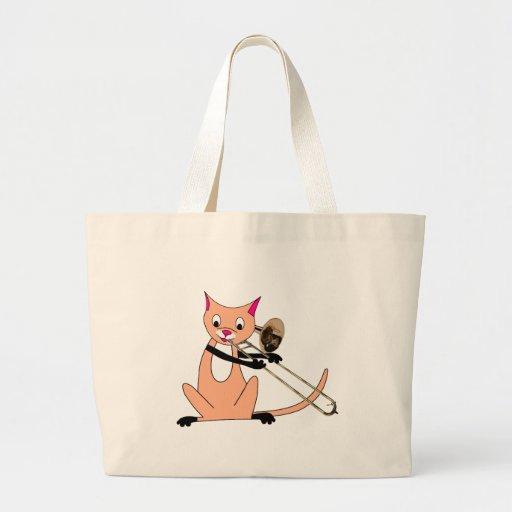 Cat Playing the Trombone | Zazzle