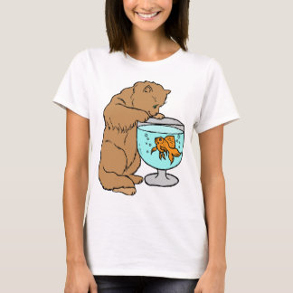 Cat playing with goldfish T-Shirt