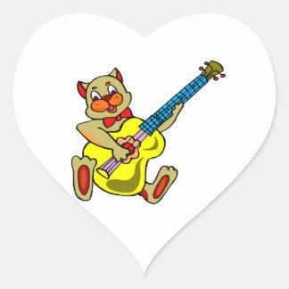 cat playing yellow bass.png heart sticker