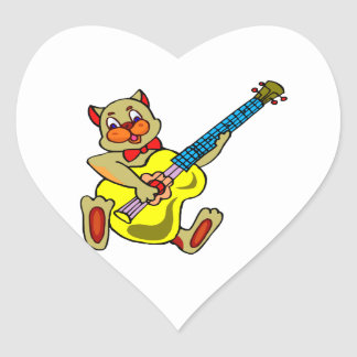 cat playing yellow bass.png heart sticker