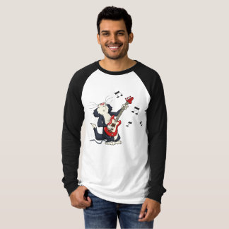 Cat Plays Electric Guitar T-Shirt
