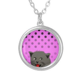 Cat_polka dot_baby girl_pink_desing custom jewelry