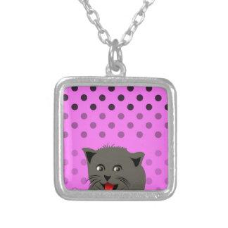 Cat_polka dot_baby girl_pink_desing pendants