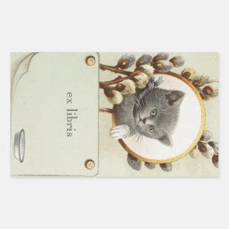 CAT PORTRAIT BOOKPLATE STICKER