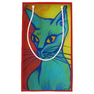 cat portrait gift bag