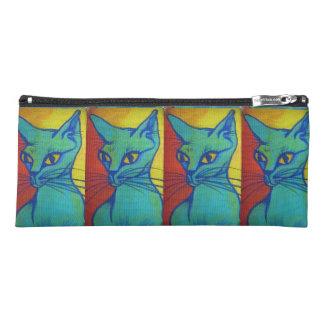 cat portrait with name pencil case