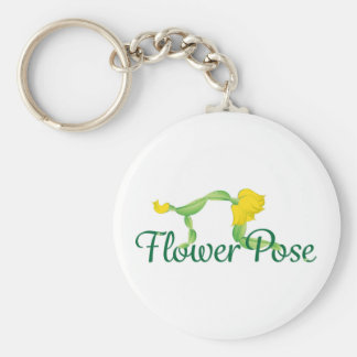 "(Cat Pose) 2.25"" Basic Button Keychain"