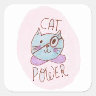 Cat Power Square Sticker