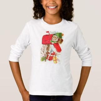 Cat Print Girls' Fine Jersey T-Shirt