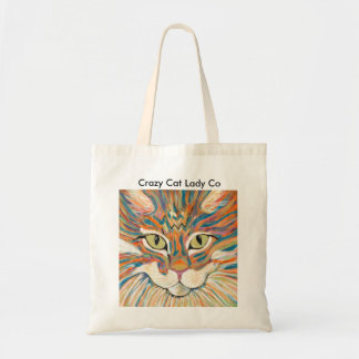 Cat print tote bag