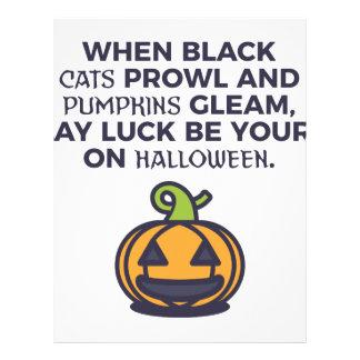 Cat Pumpkins Halloween Design Letterhead
