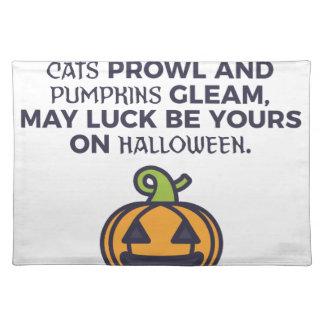 Cat Pumpkins Halloween Design Placemat