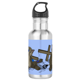 Cat Puppet 532 Ml Water Bottle