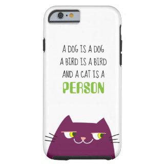 Cat Purple Fat Cool Cartoon Funny Cute Person Love Tough iPhone 6 Case
