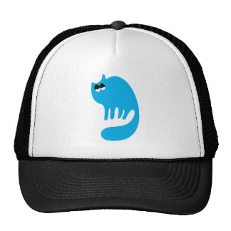 Cat Purring Blue Hi Eyes Trucker Hats