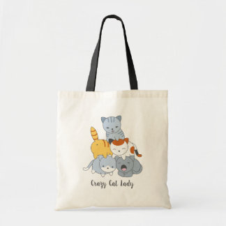 Cat Pyramid - Group of Cats, Crazy Cat Lady Tote Bag