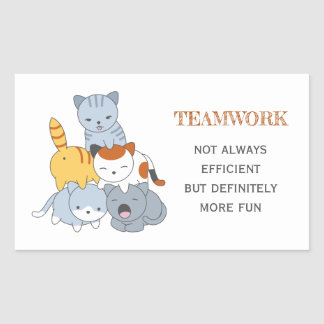 Cat Pyramid - Group of Cats, Teamwork Quote Sticker
