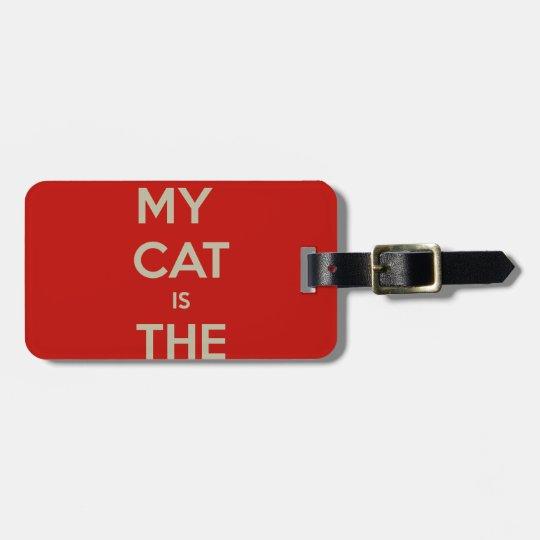 Cat Qoute Bag Tag