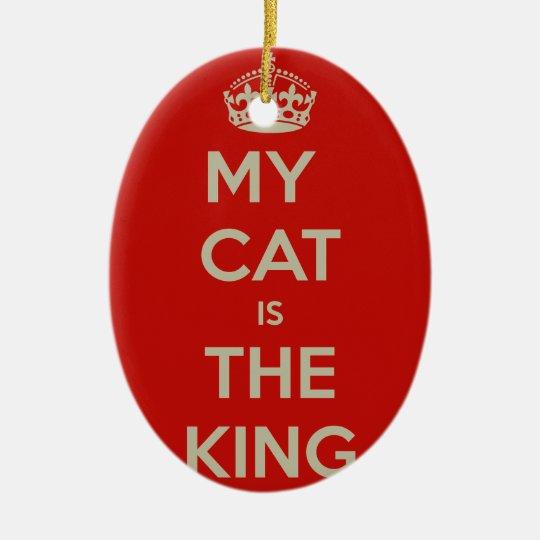 Cat Qoute Ceramic Oval Ornament