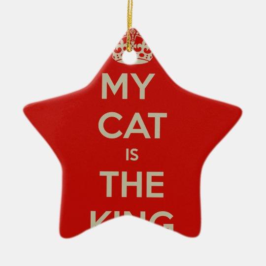 Cat Qoute Ceramic Star Ornament