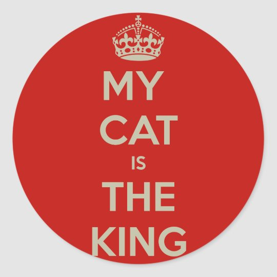 Cat Qoute Classic Round Sticker