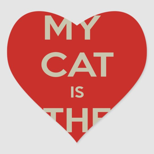 Cat Qoute Heart Sticker