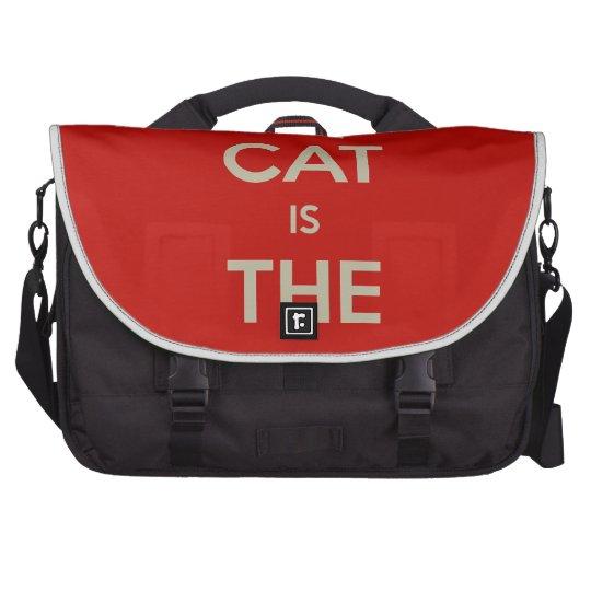 Cat Qoute Laptop Bag