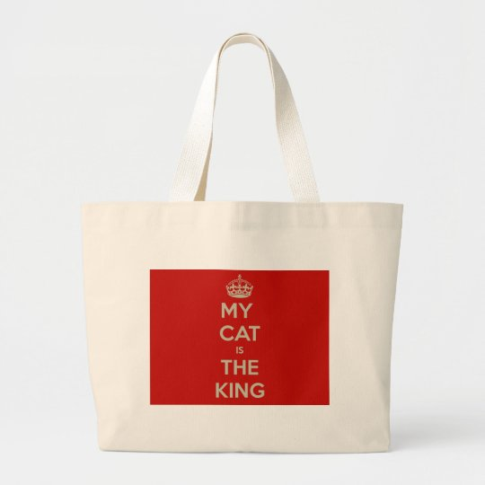 Cat Qoute Large Tote Bag