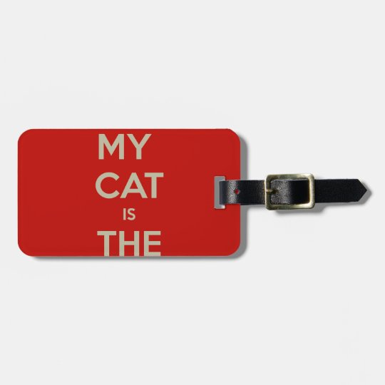 Cat Qoute Luggage Tag