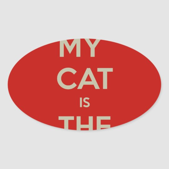 Cat Qoute Oval Sticker