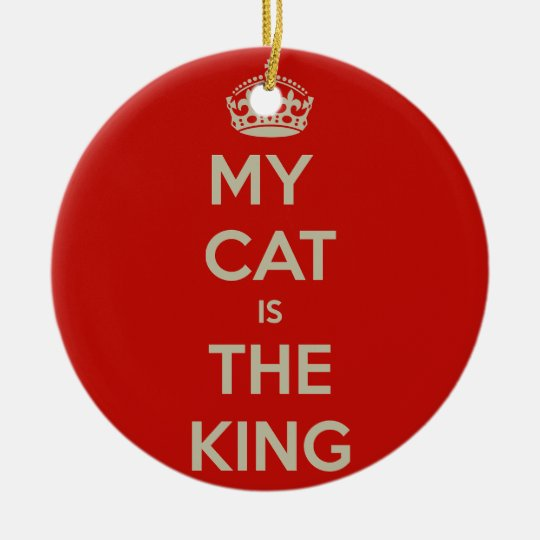 Cat Qoute Round Ceramic Ornament