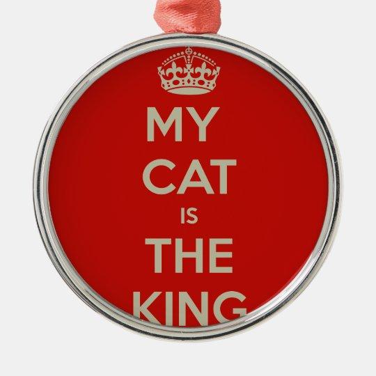 Cat Qoute Silver-Colored Round Ornament