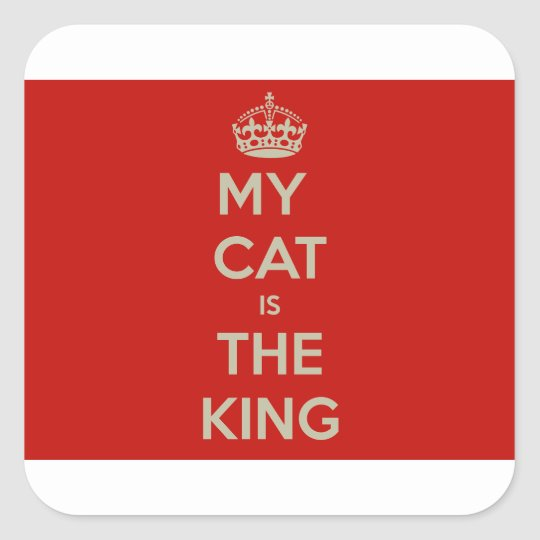Cat Qoute Square Sticker