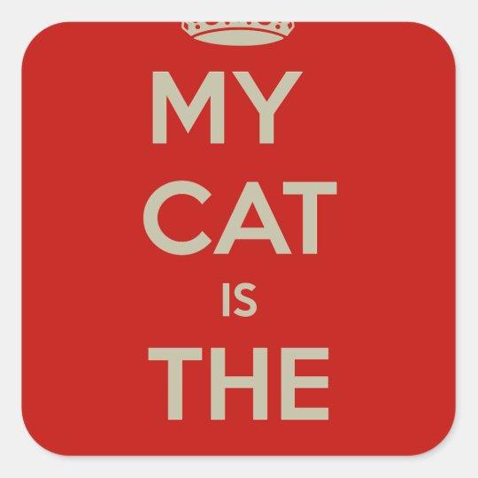 Cat Qoute Square Sticker
