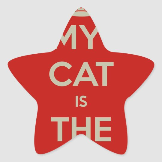 Cat Qoute Star Sticker