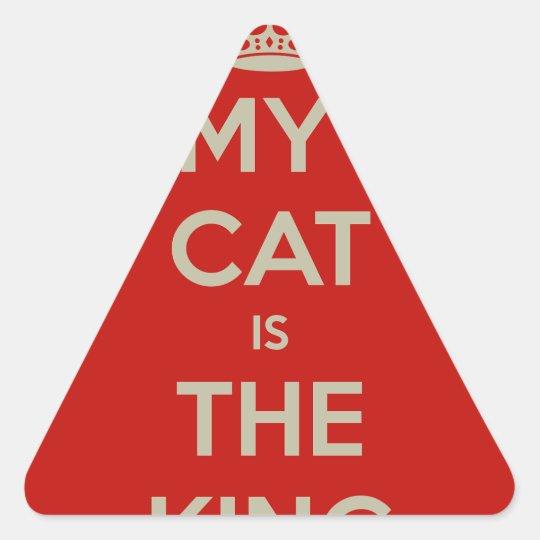 Cat Qoute Triangle Sticker
