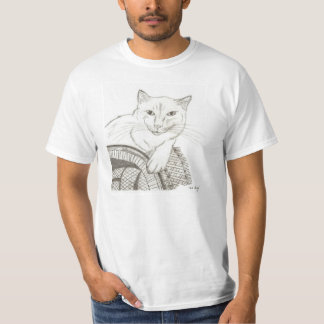 Cat Ragdoll Portrait Mens Value T-Shirt