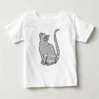 cat reading book sticker baby T-Shirt