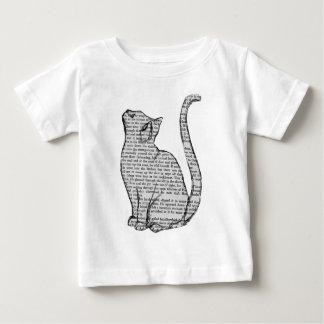 cat reading book sticker baby T-Shirt