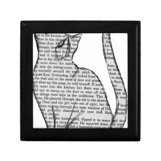 cat reading book sticker gift box