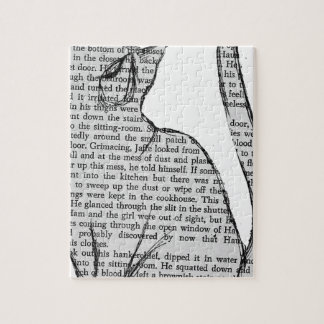 cat reading book sticker puzzles