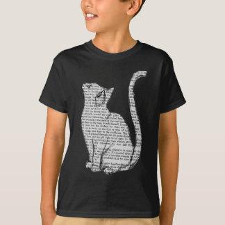 cat reading book sticker T-Shirt