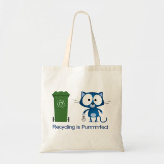 Cat Recycle Tote Bag