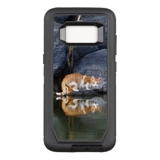Cat Reflection in Pond Water Funny Kitten Photo __ OtterBox Defender Samsung Galaxy S8 Case