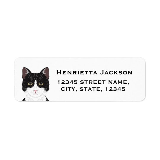 Cat return address labels - customizable