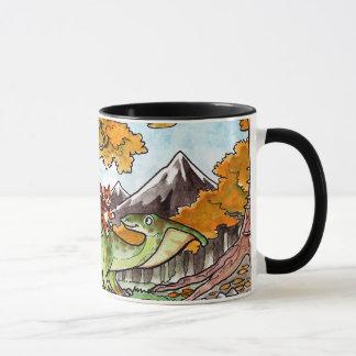 Cat Rides a Dinosaur Mug