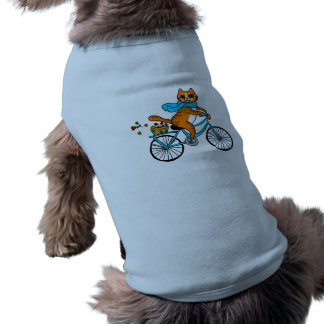 Cat riding a bicycle shirt