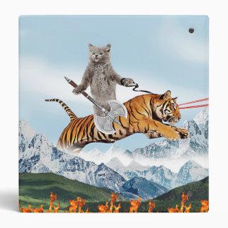 Cat Riding A Tiger Binders