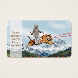 Cat Riding A Tiger Business Card