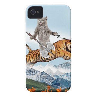 Cat Riding A Tiger iPhone 4 Case